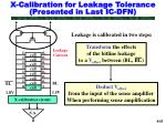 x calibration for leakage tolerance presented in last ic dfn
