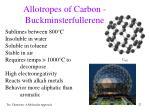 allotropes of carbon buckminsterfullerene