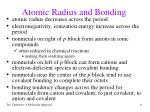 atomic radius and bonding