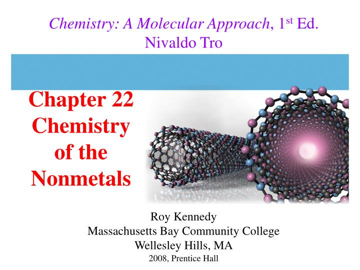 chapter 22 chemistry of the nonmetals n.