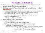 halogen compounds