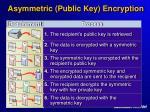 asymmetric public key encryption