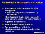 utilizzi della asymmetric encryption
