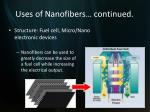 uses of nanofibers continued4