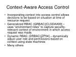 context aware access control