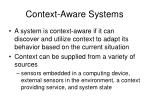 context aware systems