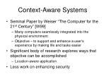 context aware systems1