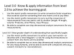 level 3 0 know apply information from level 2 0 to achieve the learning goal