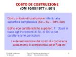 costo di costruzione dm 10 05 1977 n 801