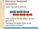 alternative sequential consistency9