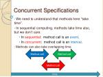 concurrent specifications