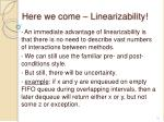 here we come linearizability1