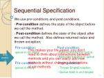 sequential specification