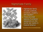 nightshade family
