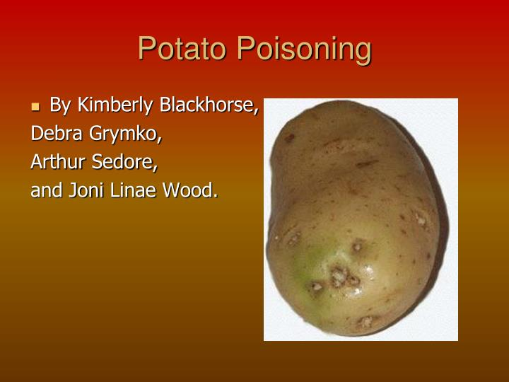 potato poisoning n.