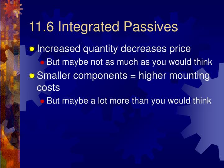 11.6 Integrated Passives