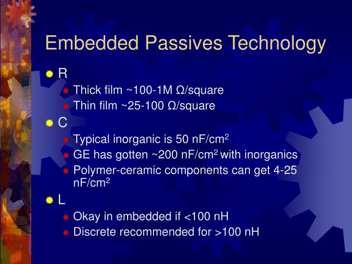 Embedded Passives Technology