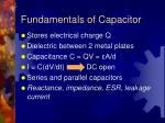 fundamentals of capacitor