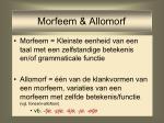 morfeem allomorf