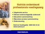 nutricia ondersteunt professionele voedingszorg