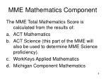 mme mathematics component