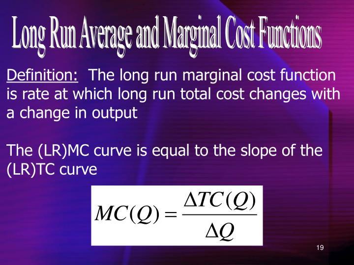 long run marginal cost definition