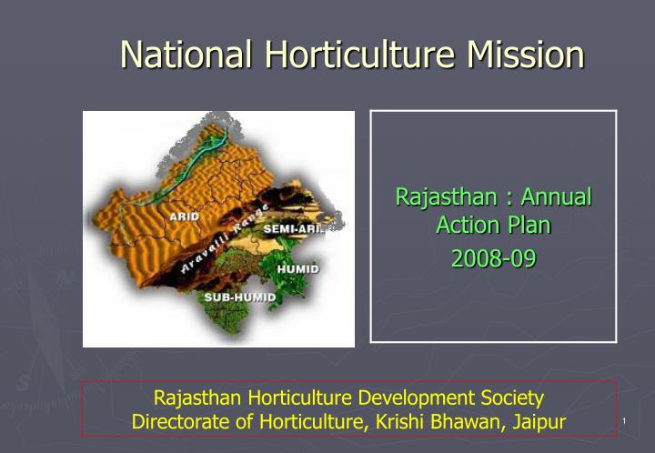 national horticulture mission n.