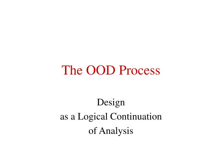 the ood process n.