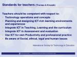 standards for teachers thomas knezek