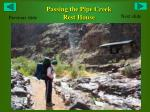 passing the pipe creek rest house