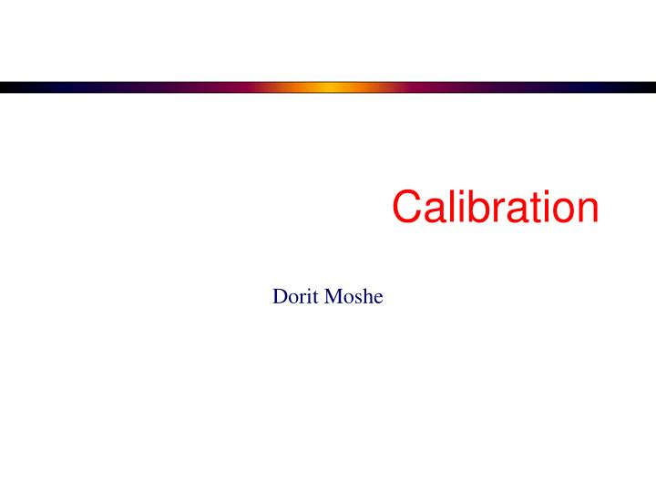 calibration n.