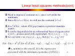linear least squares methods cont