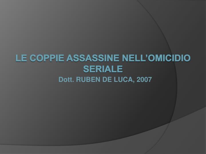 dott ruben de luca 2007 n.