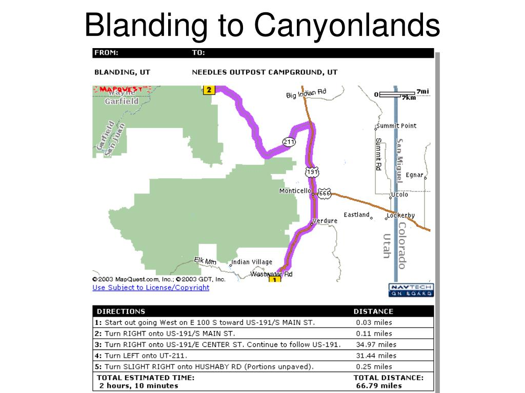 Blanding to Canyonlands