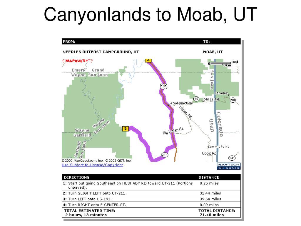 Canyonlands to Moab, UT