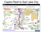capitol reef to salt lake city