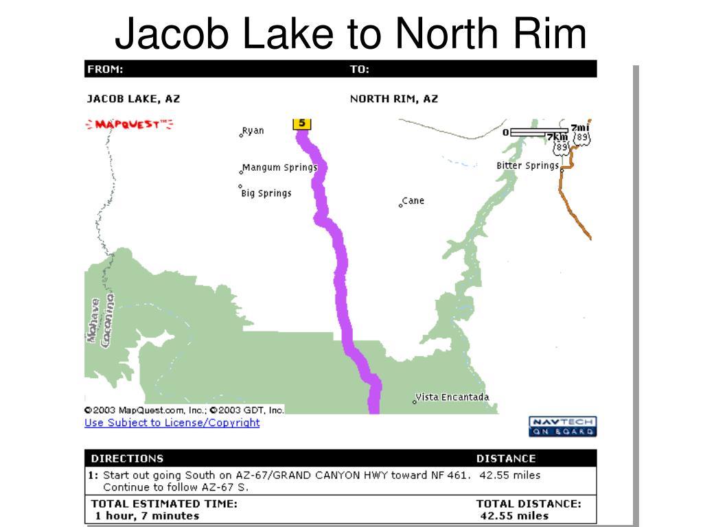 Jacob Lake to North Rim