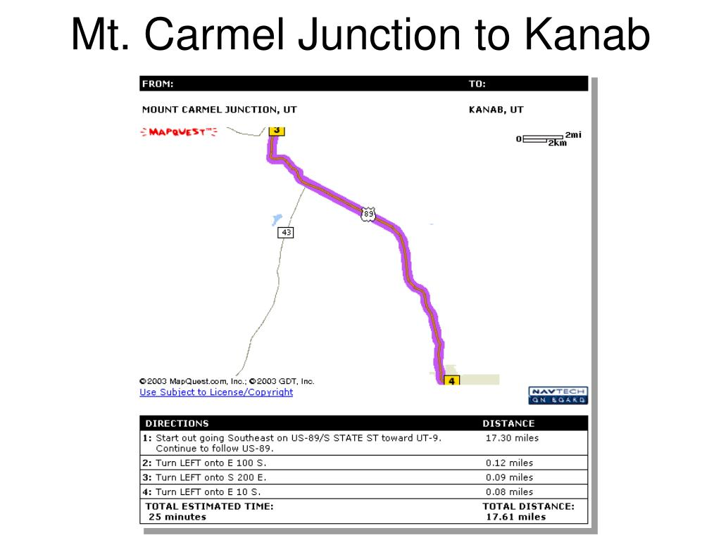 Mt. Carmel Junction to Kanab