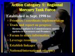 action category 1 regional mercury task force