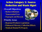 action category 3 source reduction and waste mgmt