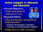 action category 4 outreach and education