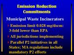 emission reduction commitments