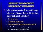mercury management retirement priorities1