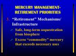 mercury management retirement priorities2