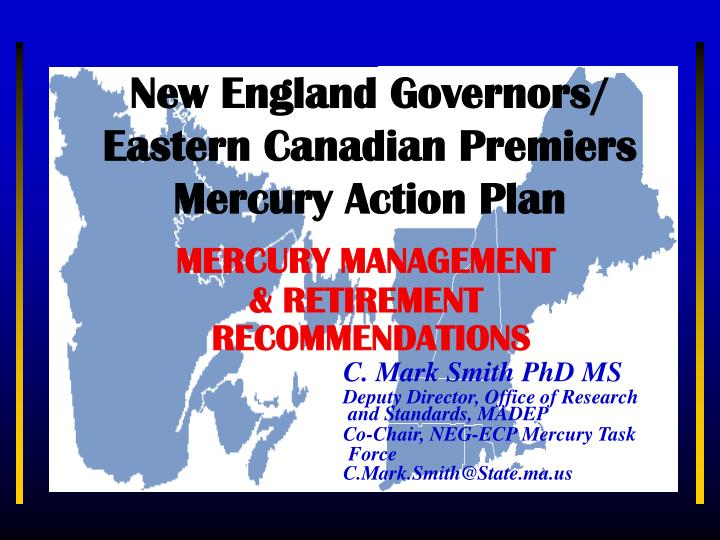 new england governors eastern canadian premiers mercury action plan n.