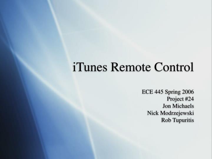 itunes remote control n.