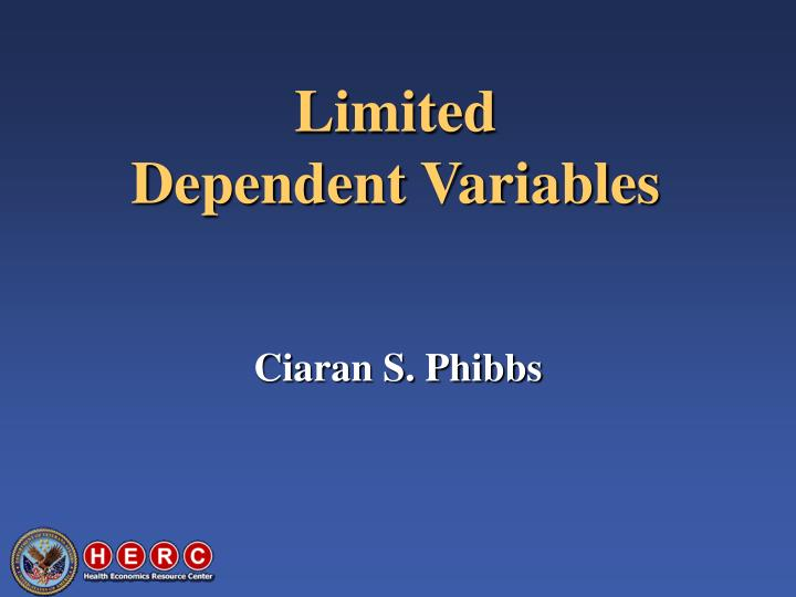 limited dependent variables n.