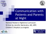 communication with patients and parents at night