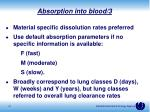 absorption into blood 3