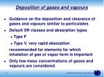 deposition of gases and vapours1